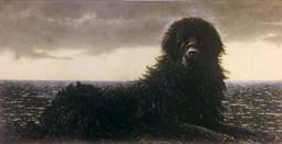 Newfoundland James Jamie Wyeth print black dog