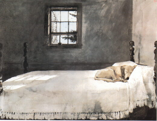 Andew Wyeth Master Bedroom Wyeth dog print